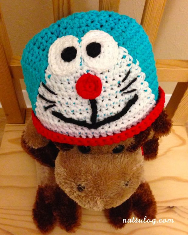 A Doraemon Beanie from above