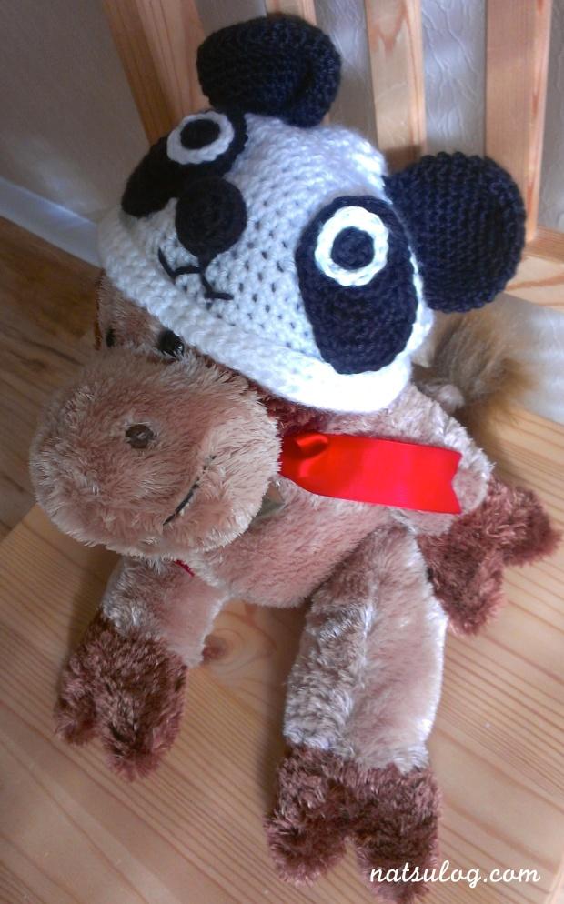 A panda beanie