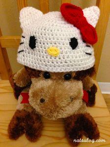Hello Kitty on my stuffed cow