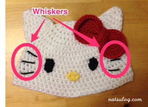 Step 5 : Whiskers