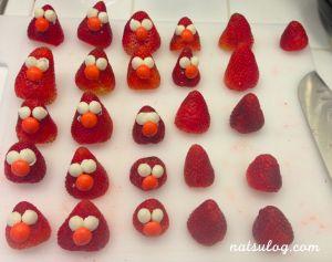 Put chocolates on Strawberries