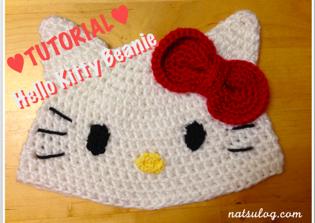 ♥︎Step-by-step Crochet Tutorial♥︎ Hello Kitty Beanie