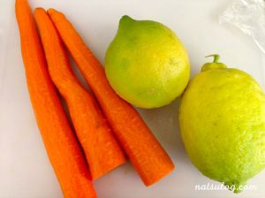 organic lemons and carrots