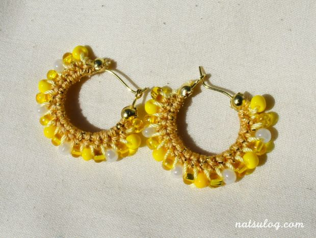 Sunny sunflower hoop earrings