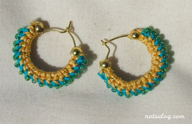 Elegant peacock green earrings