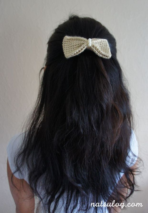 beige bow