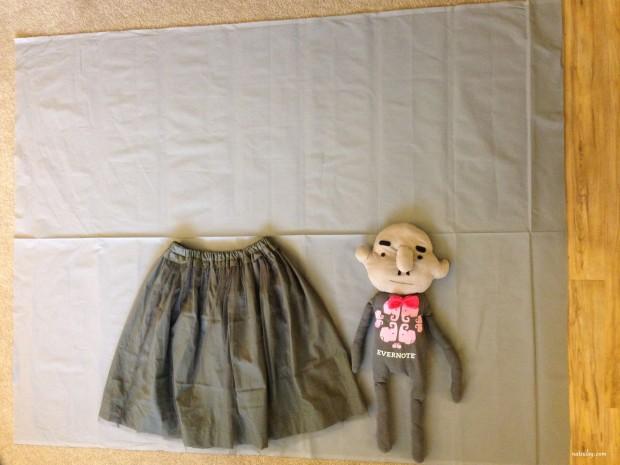 gray fabric with oji-san